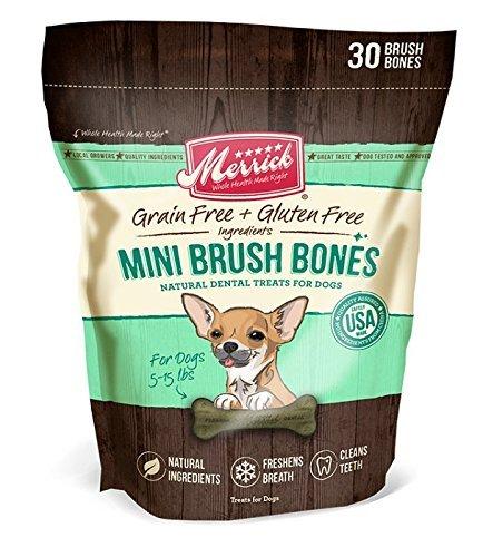 Merrick 30 Count Brush Dental Bone, Mini