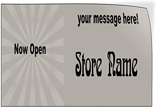 Custom Door Decals Vinyl Stickers Multiple Sizes Weve Moved Grey Business Weve Moved Outdoor Luggage /& Bumper Stickers for Cars Grey 30X20Inches Set of 5
