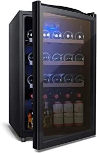XHCP Wine Rack Bottle Wine Cooler Wine Cooler Refrigerator/Red, White, Champagne Chiller/Counter Wine Rack/Constant Temperature and Humidity/Size 84X50X55cm / Black