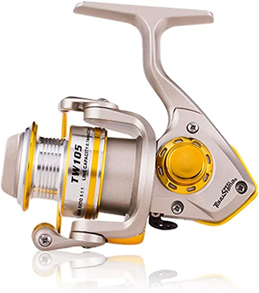 Xhtoe Carretes de Pesca Spinning Pesca Carretes Ultra Ligero Carrete Smooth Herramientas al Aire Libre de Pesca (Color : Gold, Size : 800): Amazon.es: Hogar
