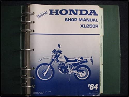 Honda 1984 XL250R XL 250 R ORIGINAL FACTORY SHOP SERVICE ... on