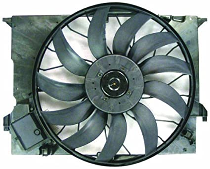 Radiator Cooling Fan Assembly Driver Side Left LH for Mercedes Benz C Class