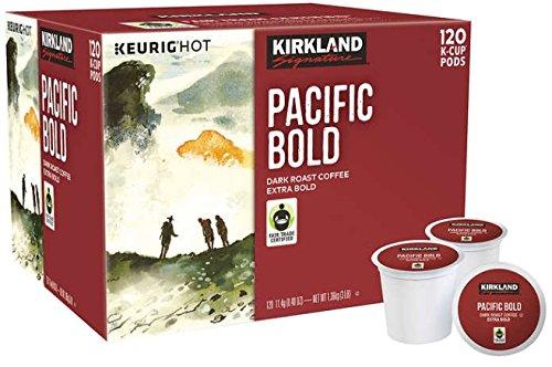 Kirkland Signature Pacific Bold Coffee, Dark, 120 K-Cup - Logo Pacific Fair