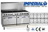 Imperial Commercial Restaurant Range 60'' With 10 Burner 2 Convection Oven Propane Ir-10-Cc