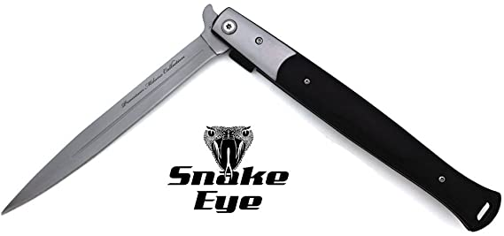 Snake Eye Tactical Large Italian Design Style Spring Assisted Folding  Pocket Knife Hunting Camping Fishing Lightning Fast Deployment - Razor  Sharp