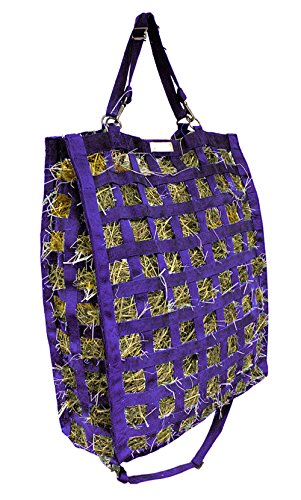 Derby Originals Super Tough 4 Sided Slow Feed Hay Bag Patented with Warranty, Purple