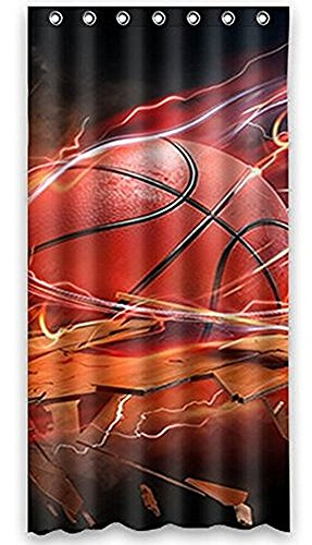 Anne Home Custom Basketball Blackout Window Curtain Panel 52″x63″ (One Piece) Fabric for Bedroom/Home For Sale
