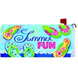 """Summer Fun"" - Mailbox Makover Cover - Vinyl with Magnetic Strips"