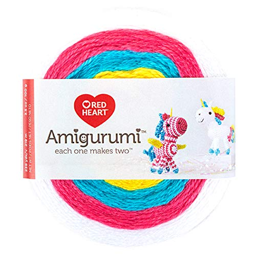 Red Heart Amigurumi Unicorn