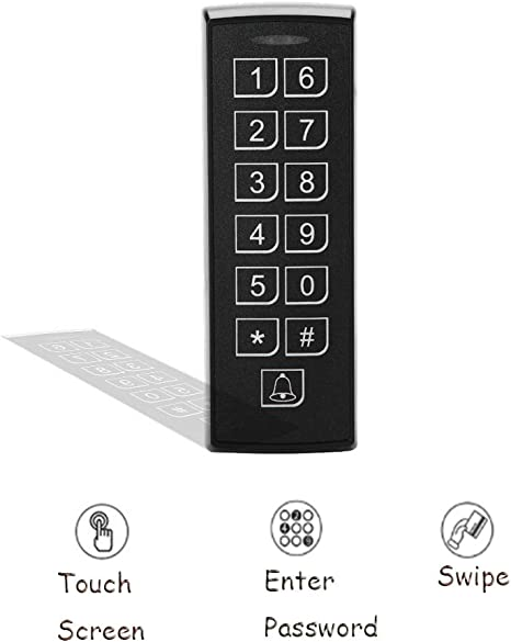 Multipurpose RFID Contactless Promixity Card Access Controller with Keypad Security Door Access Control Black Access Control System