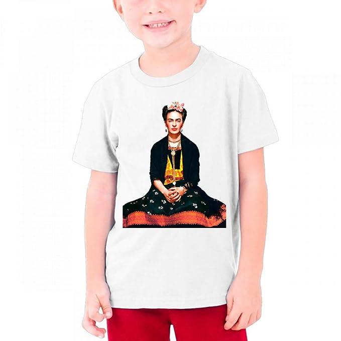 ba01e509 WilliamWButler Frida Kahlo Cotton Youth Boys Girls Teenager Funny Short  Sleeves T Shirt T Shirt White