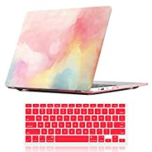 """Macbook New Pro 13 inch Case,iCasso Art printing Hard shell Plastic protective Case Cover For Newest Macbook Pro 13""""Retina Model A1706/A1708 with/without Touch Bar and Touch ID with Keyboard Cover (Watercolor)"""