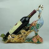 Wine rack crafts creative resin ornaments home living room wine Compote dual-use ornaments