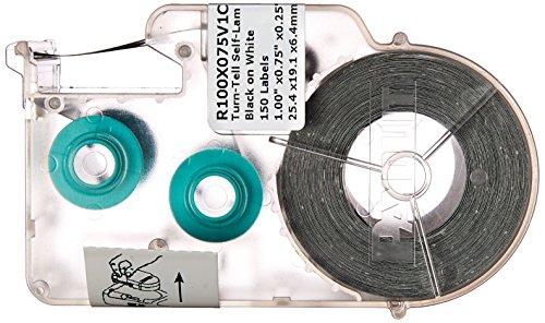 - Panduit R100X150V1C P1 Cassette Turn-Tell Self-Laminated Label, Vinyl, White