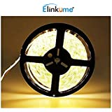 Elinkume 10M Bande Flexible 60 SMD 5050 Bande Flexible Blanc Chaud Bandes LED Flexibles DC12V LED(SMD) Strip
