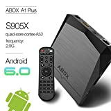 2017 Model ABOX A1 Plus Android 6.0 TV Box with Amlogic S905X 64 Bits 2GB RAM 8GB ROM and True 4K Playing