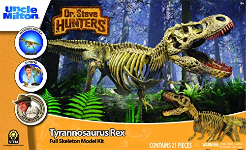 Uncle Milton Dr. Steve Hunters - T. Rex Replica Skeleton - 21Piece - 1: 15 Scale - 30