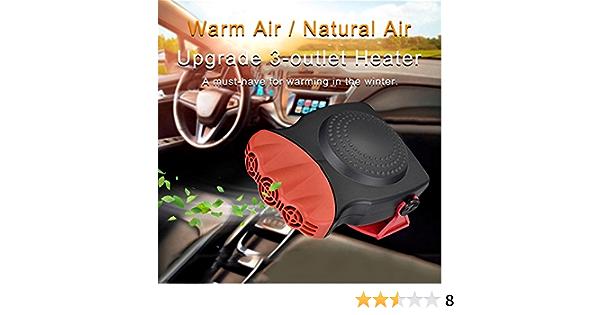 port/átil 2 en 1 descongelador 2020 12 V 150 W calentador r/ápido de coche el/éctrico con funci/ón de enfriamiento y calefacci/ón Rhys.J Descongelador de calentador de coche