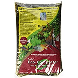 CaribSea Eco-Complete 20-Pound Planted Aquarium, Black