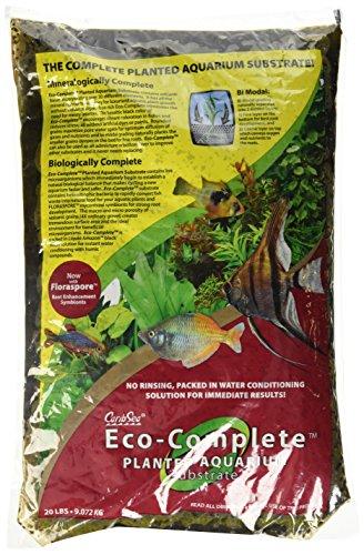 CaribSea Eco-Complete acuario plantado de 20 libras, negro