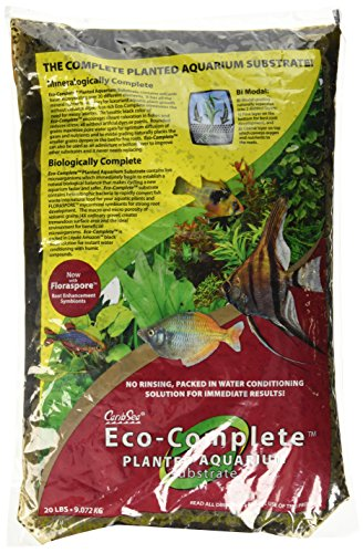 CaribSea Eco-Complete 20-Pound Planted Aquarium, Black (Best Planted Tank Fertilizer)