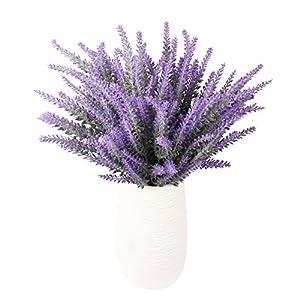 TYEERDEC Artificial Flowers 6 Bundles Lavender Bouquet for Wedding Home Office Decoration - Purple 5