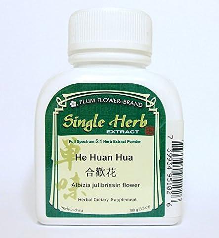 Albizia Julibrissin Flower Herb Extract Powder / He Huan Hua, 100g or 3.5oz (Holistic Granules)