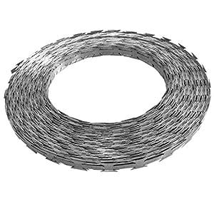 Festnight Galvanized Steel Razor Wire Garden Barbed Wire