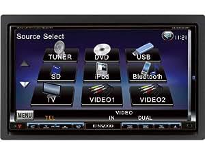 Kenwood Electronics DDX8024BT receptor multimedia para coche - Radio para coche (SRS WOW, WOW 3D, WOW Focus, WOW TrueBass, Dolby PrologicII, Dolby Digital Decode, LCD, Negro, 182 x 163 x 112 mm)