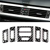old style vent cover - Thor-Ind Carbon Fiber Central Air Conditioning Vent Outlet Cover Trim Frame For BMW Old 3 Series E90 E92 E93 2005-2012 Car Interior Decor Decal (Central Air Conditioner Outlet Decoration, A Style)