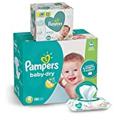 Pampers Diapers Size 4, Baby Dry Disposable Baby Diapers, 186 Count ONE MONTH SUPPLY with Baby Wipes Sensitive 6X Pop-Top Packs, 336 Count, 1 Set: more info