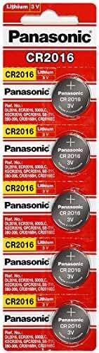 Panasonic CR2016 3 Volt Lithium Coin Battery (4 Packs of 5)