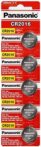 Panasonic CR2016 3 Volt Lithium Coin Battery (4 Packs of 5)