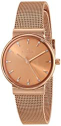 Skagen Women's SKW2197 Ancher Rose Gold-Tone Stainless Steel Watch with Crystal Markers