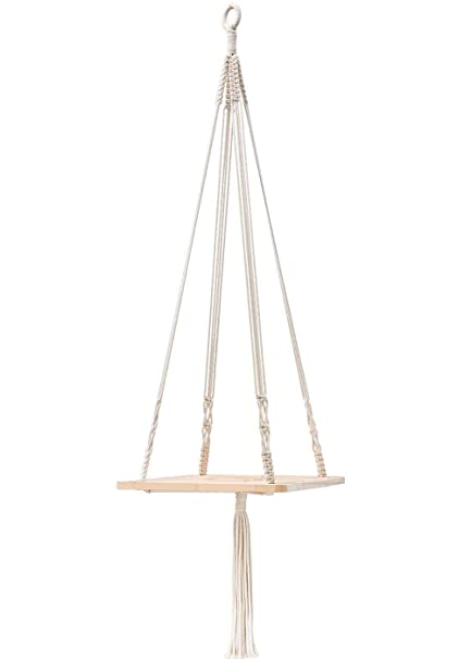 Amazon Com Tylife Macrame Plant Hanger Shelf Hanging Home Decor 45
