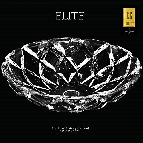 Circleware 10108 CG Society Elite Diamond Cut Bowl 15D x 4H Home and Kitchen Utensils