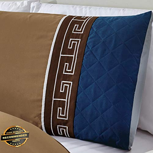 Werrox 7-Piece Pleated Diamond Quilted Embroidery Comforter Set California King Size   Quilt Style QLTR-291267051