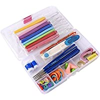 SYGA 51 Pecies Needle Arts Crochet Set Knitting Craft Weaving Plastic Yarn Sewing Tools