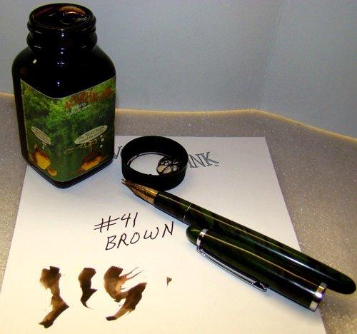 Brown Fountain Pen Ink - Noodler's Fountain Ink, 3 oz Bottle, 41 Brown (19063)