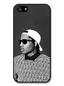 AMAF ? Accessories ASAP Rocky Black and White Portrait with Sunglasses case for iPhone 5 5S