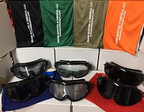 Drunk Busters 6 Pack of Goggles - 1 Impairment .08-.15 BAC, 1 Low Level .04-.06 BAC, 1 Low Level Night .06-.08 BAC, 1 Twilight Vision .15-.25 BAC, 1 Totally Wasted .26-.35 BAC & 1 Cannabis