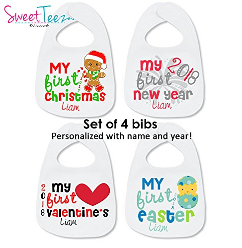 My first christmas bib personalized gifts