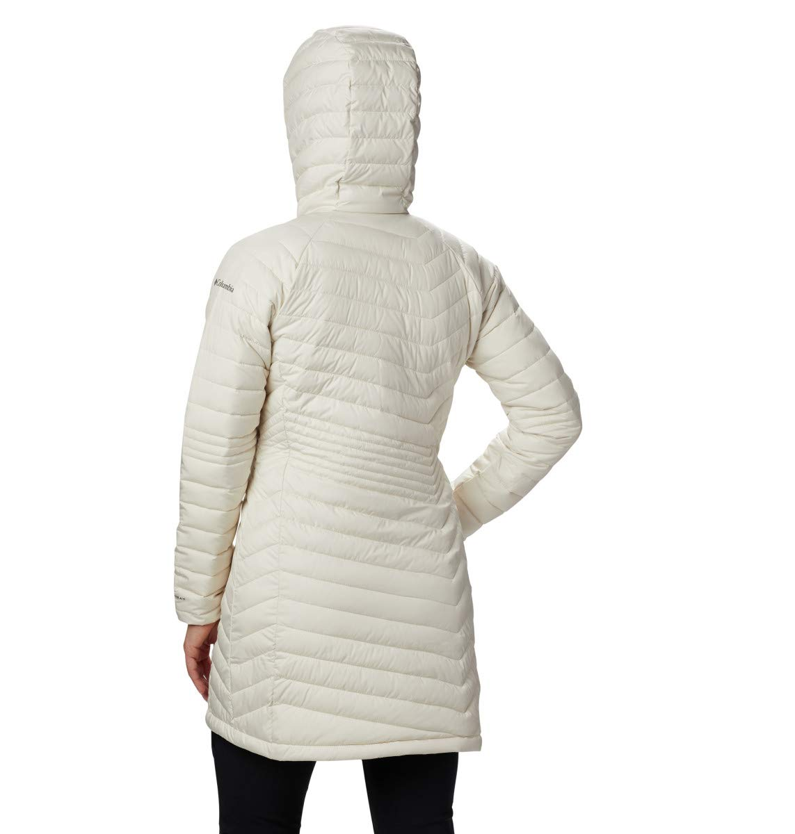 Columbia Powder Lite Mid Jacket Femme Beige (Chalk)