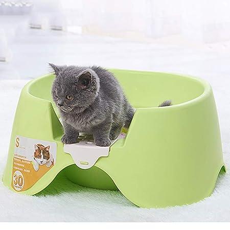 NIUSION Squat Cajas de Arena para Gatos Desmontables Fácil de ...