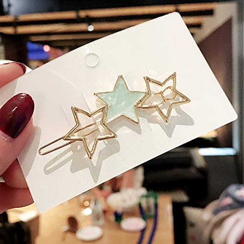 Plated Console Silver - Fashion Girls Gold/Silver Plated Metal Triangle Circle Moon Hair Clips Metal Circle Hairpins Holder Hair Accessories