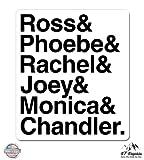 "Best Friends tv show Friend Phone Stickers - Friends Characters Best Show Ever - 3"" Vinyl Review"