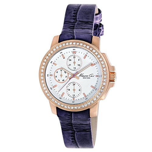 Kenneth Cole New York Women's KC2806 Dress Sport White Multi-Function Dial Stone Purple Strap Watch