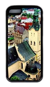 iPhone 5C Case, iPhone 5C Cases -Lviv Ukraine TPU Rubber Soft Case Back Cover for iPhone 5C Black