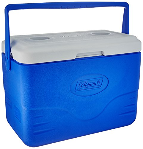 Coleman 28-Quart Cooler With Bail Handle, Blue by Coleman