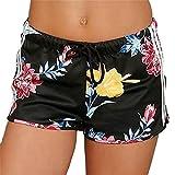 WOCACHI Women Shorts 2018 Women Summer Casual Floral Fashion Drawstring Shorts Pants